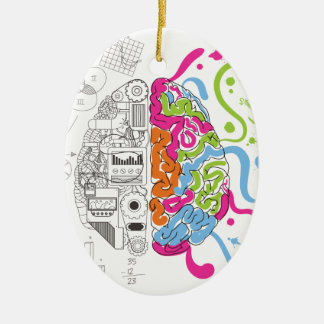 Wellcoda Mad Side Of Brain Fun Study Life Christmas Ornament