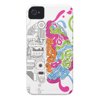 Wellcoda Mad Side Of Brain Fun Study Life iPhone 4 Covers