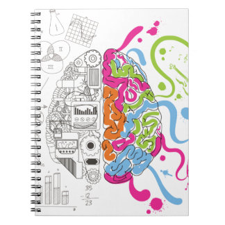 Wellcoda Mad Side Of Brain Fun Study Life Spiral Notebook