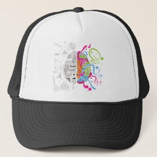Wellcoda Mad Side Of Brain Fun Study Life Trucker Hat