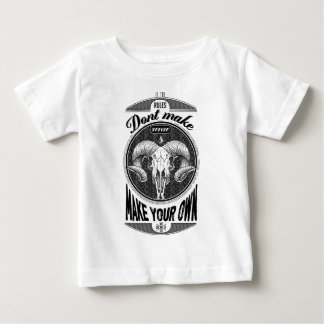 Wellcoda Make Your Own Rules Rebel Goat Baby T-Shirt