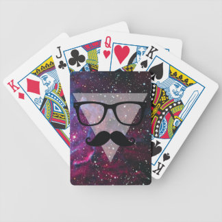 Wellcoda Master Disguise Space Funny Face Bicycle Playing Cards