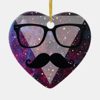 Wellcoda Master Disguise Space Funny Face Ceramic Heart Decoration