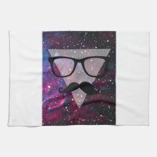 Wellcoda Master Disguise Space Funny Face Tea Towel