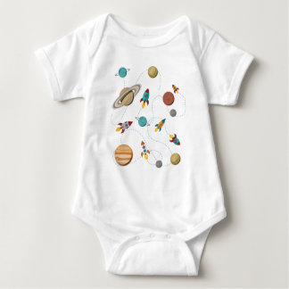 Wellcoda Meet You In Galaxy Mad Planet Baby Bodysuit