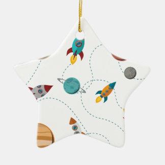 Wellcoda Meet You In Galaxy Mad Planet Christmas Ornament