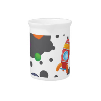 Wellcoda Meet You In Space Fun Mad Planet Pitcher