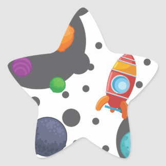 Wellcoda Meet You In Space Fun Mad Planet Star Sticker