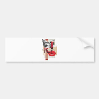 Wellcoda Merilyn Beauty Art Monroe Lip Bumper Sticker