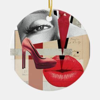 Wellcoda Merilyn Beauty Art Monroe Lip Christmas Ornament