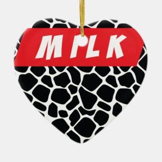 Wellcoda Milk Cow Print Swag Hipster Christmas Ornament