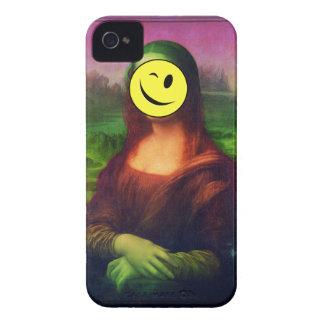 Wellcoda Mona Lisa Smile Face Funny Emoji iPhone 4 Case-Mate Case