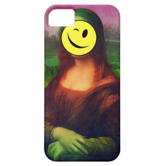 Wellcoda Mona Lisa Smile Face Funny Emoji iPhone 5 Case