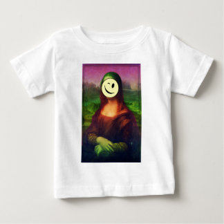 Wellcoda Mona Lisa Smile Wink Emoji Art Baby T-Shirt