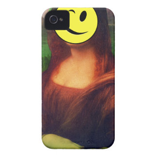 Wellcoda Mona Lisa Smile Wink Emoji Art Case-Mate iPhone 4 Cases