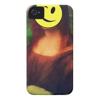 Wellcoda Mona Lisa Smile Wink Emoji Art Case-Mate iPhone 4 Cases