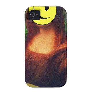 Wellcoda Mona Lisa Smile Wink Emoji Art iPhone 4 Cover