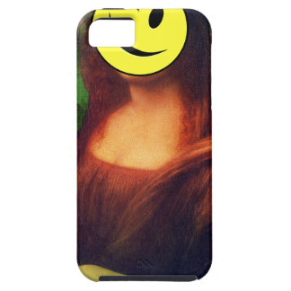 Wellcoda Mona Lisa Smile Wink Emoji Art iPhone 5 Case