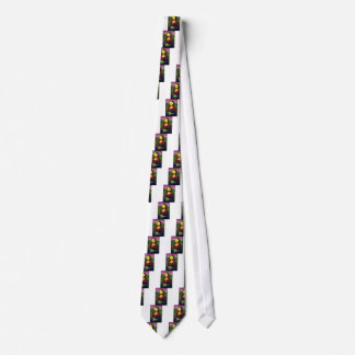 Wellcoda Mona Lisa Smile Wink Emoji Art Tie