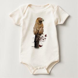 Wellcoda Monkey Eagle Creature Red Eye Baby Bodysuit