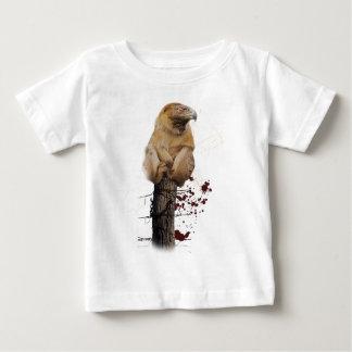 Wellcoda Monkey Eagle Creature Red Eye Baby T-Shirt
