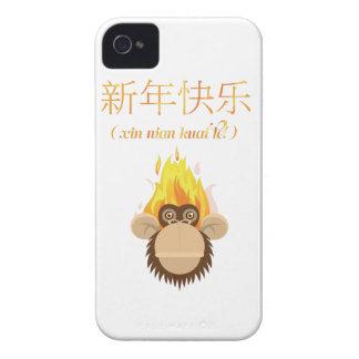 Wellcoda Monkey Head New Year Happy Wish iPhone 4 Covers