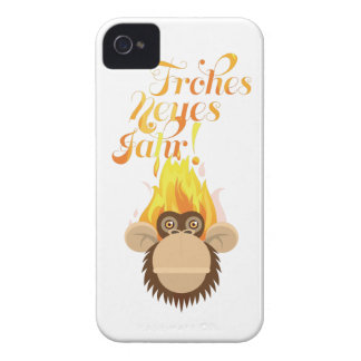 Wellcoda Monkey Head On Fire Celebration iPhone 4 Case
