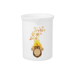 Wellcoda Monkey Head On Fire Celebration Pitcher