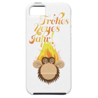 Wellcoda Monkey Head On Fire Celebration Tough iPhone 5 Case