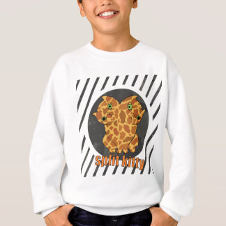 Wellcoda Monster Split Kitty Animal Twin Sweatshirt