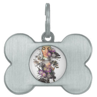 Wellcoda Mother Nature Flower Love Nature Pet ID Tag