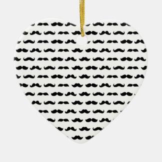 Wellcoda Moustache Epic Print Facial Hair Christmas Ornament
