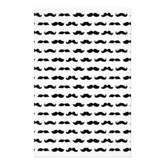 Wellcoda Moustache Epic Print Facial Hair Stationery