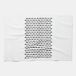 Wellcoda Moustache Epic Print Facial Hair Tea Towel