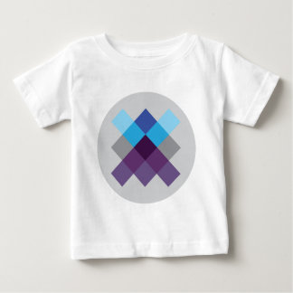 Wellcoda Multi Square Circle Crazy Pattern Baby T-Shirt