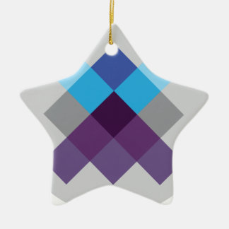 Wellcoda Multi Square Circle Crazy Pattern Christmas Ornament