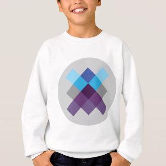 Wellcoda Multi Square Circle Crazy Pattern Sweatshirt