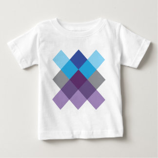 Wellcoda Multi Square Cross Crazy Pattern Baby T-Shirt
