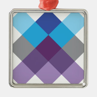 Wellcoda Multi Square Cross Crazy Pattern Christmas Ornament