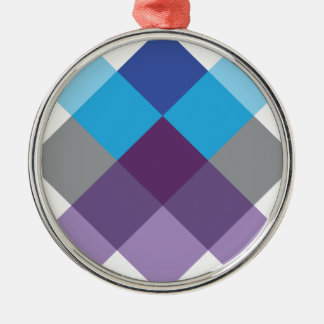 Wellcoda Multi Square Cross Crazy Pattern Christmas Ornament