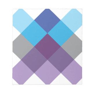 Wellcoda Multi Square Cross Crazy Pattern Notepad
