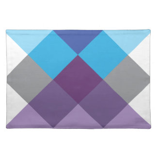 Wellcoda Multi Square Cross Crazy Pattern Placemat