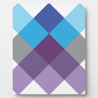 Wellcoda Multi Square Cross Crazy Pattern Plaque