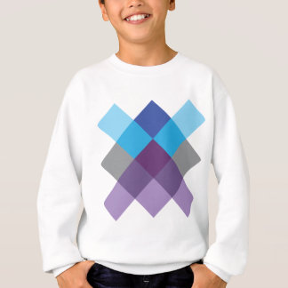 Wellcoda Multi Square Cross Crazy Pattern Sweatshirt