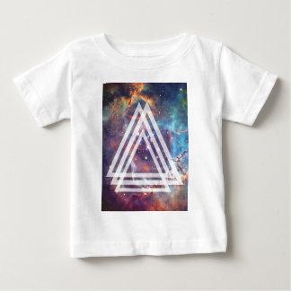 Wellcoda Multi Triangle Space Universe Fun Baby T-Shirt