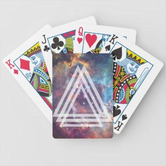 Wellcoda Multi Triangle Space Universe Fun Bicycle Playing Cards