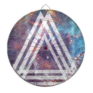 Wellcoda Multi Triangle Space Universe Fun Dartboard