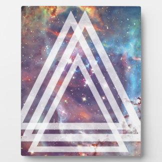 Wellcoda Multi Triangle Space Universe Fun Plaque