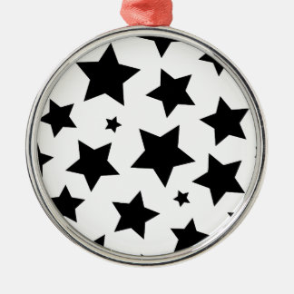 Wellcoda Multiple Star Effect Night Sky Silver-Colored Round Decoration