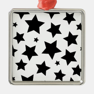 Wellcoda Multiple Star Effect Night Sky Silver-Colored Square Decoration